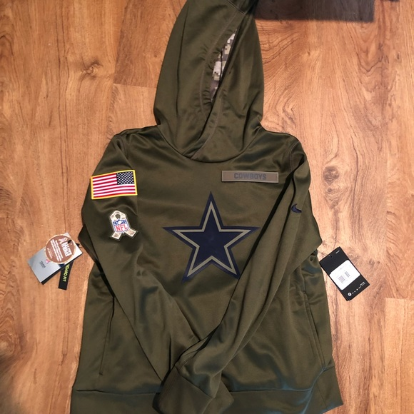 sale retailer c35cf edb8d NIKE dallas cowboys army hoodie jacket NWT